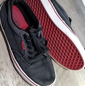 Van's Black Denim Look Sneakers Size 7.5 Men's